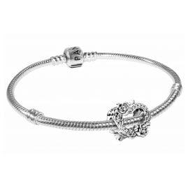 Pandora 39826 Armband für Damen Offenes Herz und Rosenblüten