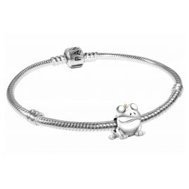 Pandora 39811 Damen-Armband Zweifarbiger Froschprinz Silber