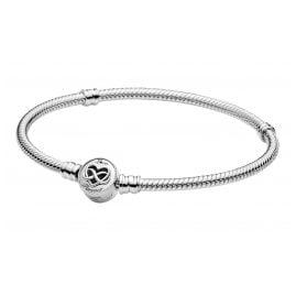 Pandora 599365C00 Damen-Silberarmband Unendlichkeits-Herz
