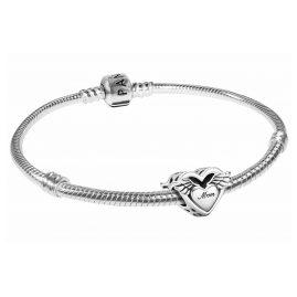 Pandora 51081 Damen-Armband Engelsflügel & Mum Silber