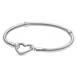 Pandora 599539C00 Women's Bracelet Silver with Heart Clasp