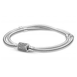 Pandora 599544C01 Ladies' Bracelet Silver Double Wrap
