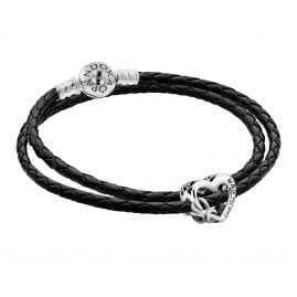 Pandora 51520 Set Leder-Armband für Damen mit Charm Love You Mum