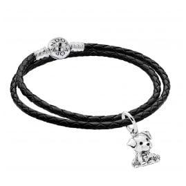 Pandora 51524 Damen-Armband im Set mit Charm-Anhänger Labrador Puppy