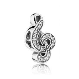 Pandora 791381CZ Silber-Charm Notenschlüssel