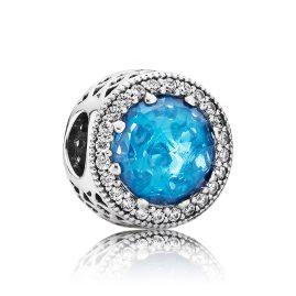 Pandora 791725NBS Charm Strahlenkranz der Herzen Blau