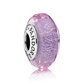 Pandora 791651 Murano Glass Dazzling Purple Facets