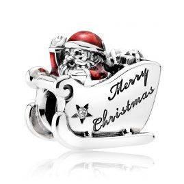 Pandora 792004CZ Charm Weihnachtsschlitten