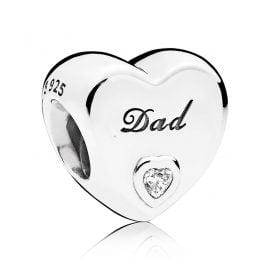 Pandora 796458CZ Charm Dad Heart