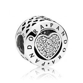 Pandora 796218CZ Charm Logo Heart