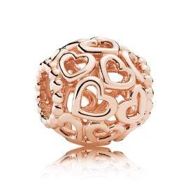 Pandora 780964 Charm Hearts Swirl Rose