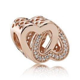 Pandora 781880CZ Charm Verschlungene Herzen Rosé