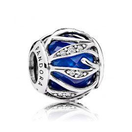 Pandora 791969NCB Charm Blätter-Glanz Royalblau