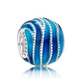 Pandora 797012ENMX Charm Blaue Wirbel