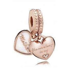 Pandora 782072EN23 Charm Pendant Mother & Daughter Heart Rose