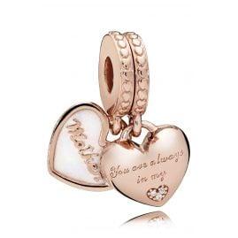 Pandora 782072EN23 Charm-Anhänger Mutter & Tochter Herz Rosé