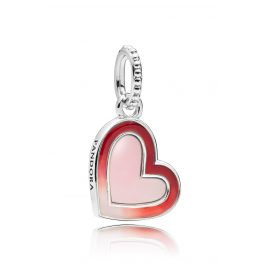 Pandora 797820ENMX Charm-Anhänger Asymmetric Heart of Love