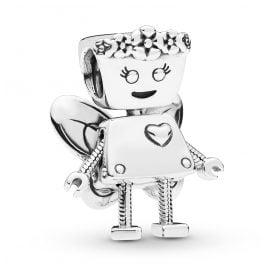 Pandora 797856 Silver Charm Floral Bella Bot