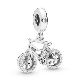 Pandora 797858CZ Silver Charm Pendant Brilliant Bicycle