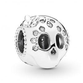 Pandora 797866CZ Silber Charm Sparkling Skull