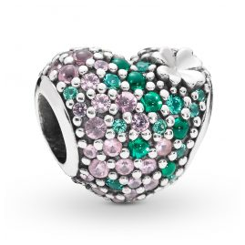 Pandora 797869NRGMX Silber Charm Gleaming Clover Heart