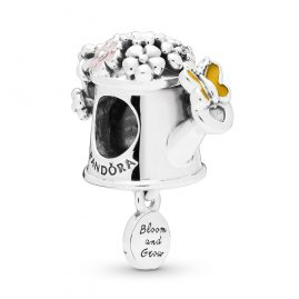 Pandora 797873ENMX Silver Charm Blooming Watering Can