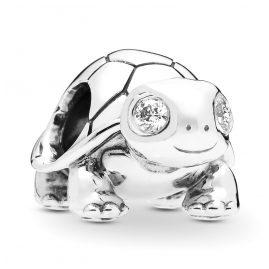 Pandora 797878CZ Silber Charm Bright-Eyed Turtle