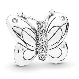 Pandora 797880CZ Silber Fixed Clips Charm Decorative Butterfly