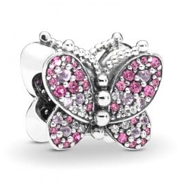 Pandora 797882NCCMX Silber Charm Dazzling Pink Butterfly