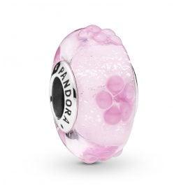 Pandora 797901 Silber-Charm Muranoglas Pink Flower