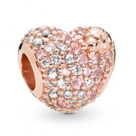 Pandora 787894NPOMX Rose Charm Gleaming Ladybird Heart