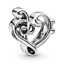 Pandora 798346 Charm Heart Treble Clef