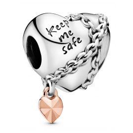 Pandora 788344 Rose Charm Chained Heart