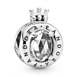 Pandora 798266CZ Silver Charm Clear Sparkling Crown O