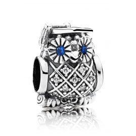 Pandora 791502NSB Silber Charm Studien-Eule