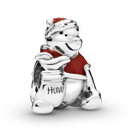Pandora 798451C01 Silver Charm Winnie the Pooh Hunny Pot Christmas