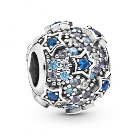Pandora 798467C01 Silver Charm Elevated Stars Pavé