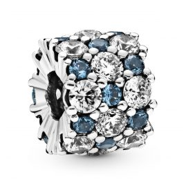 Pandora 798487C02 Silber Charm Blue Sparkle All Over