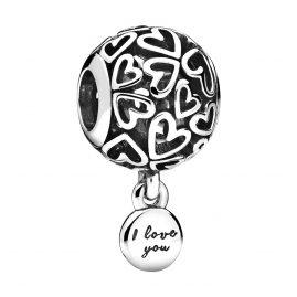 Pandora 798606C00 Silber Charm Openwork Love Hearts