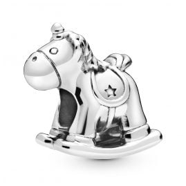 Pandora 798437C00 Silver Charm Bruno the Unicorn Rocking Horse