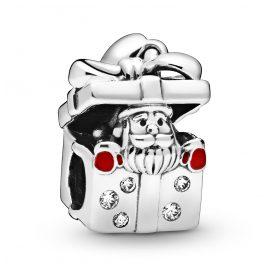 Pandora 798470C01 Weihnachts-Charm Weihnachtsmann in Geschenkbox