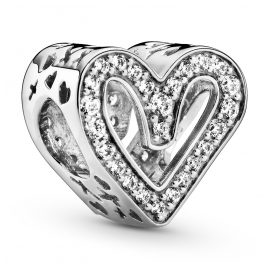 Pandora 798692C01 Silver Charm Sparkling Freehand Heart