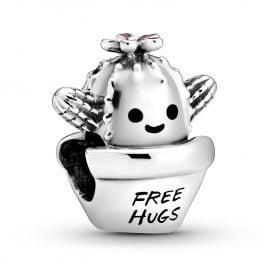 Pandora 798786C01 Silber Bead-Charm Free Hugs Kaktus