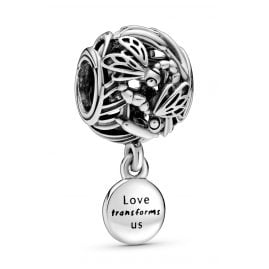 Pandora 798814C00 Silver Bead Charm Openwork Dragonfly Love