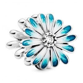 Pandora 798775C01 Silver Bead Charm Blue Daisy Flower