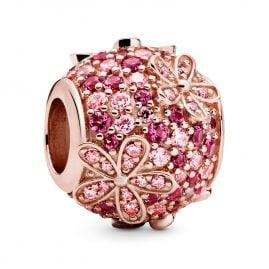 Pandora 798797C01 Rose Bead Charm Pink Pavé Daisy Flower
