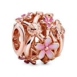 Pandora 788772C01 Rose Bead Charm Openwork Pink Daisy Flower