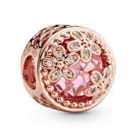 Pandora 782055C01 Rose Bead-Charm Funkelndes Pinkes Gänseblümchen