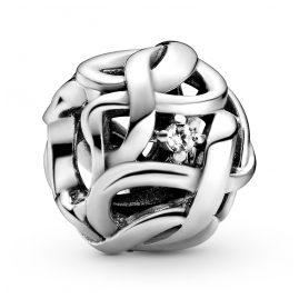 Pandora 798824C01 Silber Bead-Charm Verwobene Unendlichkeit