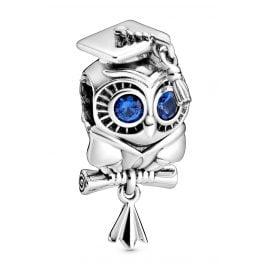 Pandora 798907C01 Silver Bead Charm Wise Owl Graduation